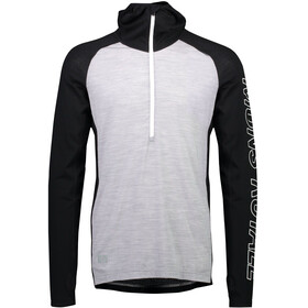 Mons Royale M's Temple Tech LS Hood Black/Grey Marl